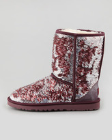 UGG Sparkles Classic Short Shearling Boot, Sangria Multi