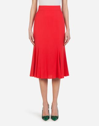 Dolce & Gabbana Charmeuse Godet Midi Skirt