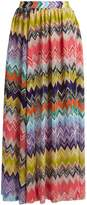 MISSONI MARE Zigzag-knit side-slit maxi skirt