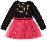 Weeplay Kids True Black & Hot Pink Dress - Girls