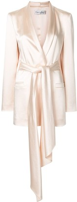 Oscar de la Renta Wrap-Style Single-Breasted Blazer