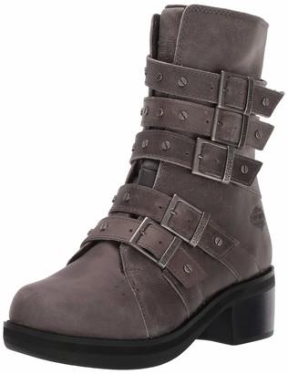 Harley-Davidson Women's Marston/Gry Five Strap Boot Grey 9 M US