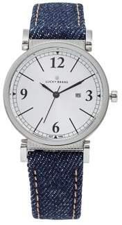 Lucky Brand Carmel Denim Leather Watch
