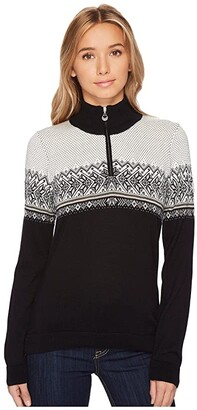 Dale of Norway Hovden Sweater (F-Black/Light Charcoal/Smoke/Beige/Off-White) Women's Sweater