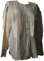 Escada Ecru Silk Top for Women Vintage