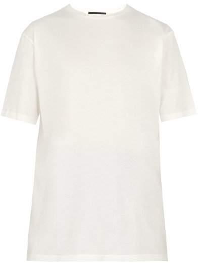 Haider Ackermann Somewhere Printed Cotton Jersey T Shirt - Mens - White