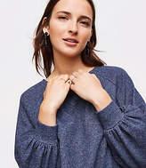 LOFT Shimmer Blouson Sweatshirt