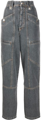 Etoile Isabel Marant High Rise Straight Leg Jeans