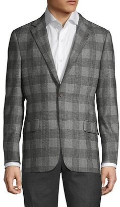 Hickey Freeman Milburn II Plaid Wool Jacket