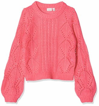 Name It Girl's Nkfnannie Ls Knit Camp Jumper