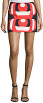 Milly Amphora Mod-Print Miniskirt, Red Multi