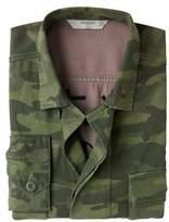 Embroidered Camo-print Overshirt