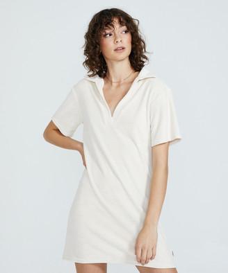 Insight Montana Towelling Polo Dress White