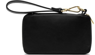 Holly & Tanager Champion Zip Around Leather Wallet In Black