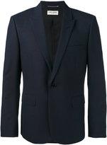 Saint Laurent single-breasted blazer - men - Silk/Cotton/Wool - 48