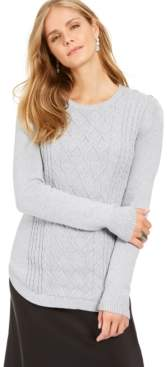 Charter Club Petite Cable Knit Sweater, Created For Macy's
