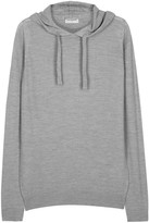 John Smedley Grey Hooded Fine-knit Wool Jumper