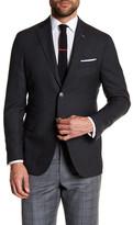 Michael Bastian Gray Woven Two Button Notch Lapel Wool Extra-Trim Fit Blazer