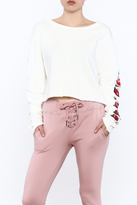Polly & Esther Floral Sleeved Sweatshirt