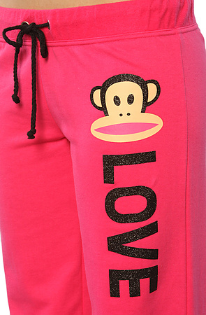 Paul Frank The Loungin Julius Sleep Sweatpant in Pink