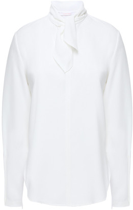 See by Chloe Tie-neck Stretch-crepe Blouse