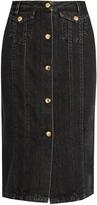Acne Studios Garea cotton-blend denim skirt
