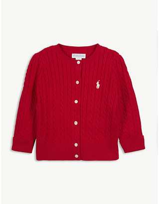 Ralph Lauren Cable knit cotton cardigan 3-24 months