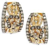 LeVian Le Vian Women's 14K Honey Gold Vanilla & Chocolate Diamonds Le Vian Chocolatier Earrings