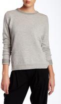 Vince Foil Print Wool Blend Crew Neck Sweater