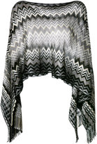 Missoni cropped knitted poncho