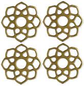 Thirstystone 4-Pc. Gold-Tone Moroccan Coaster Set