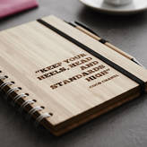 Sophia Victoria Joy Personalised Quote Wooden Notebook Set For Her