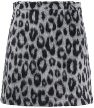 Andamane Leopard Print Mini Skirt