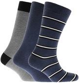 Lacoste 3 Pack Socks Navy
