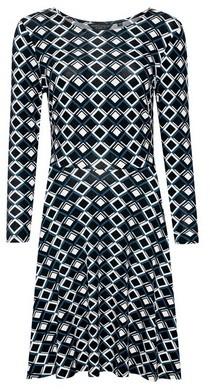 Dorothy Perkins Womens Multi Colour Geo Print Crew Neck Jersey Dress