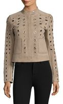 Dawn Levy Stacy Grommet Suede Jacket