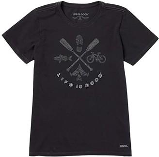 Life is Good Outdoor Action Crushertm Tee (Jet Black) Women's T Shirt