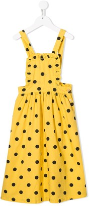 The Animals Observatory polka dot overall dress