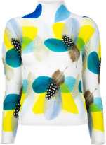 Issey Miyake Feather Flower blouse - women - Polyester - One Size