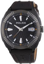 Police P13596JSBU 61 Men's Watch Analogue Quartz Leather Strap-Brown