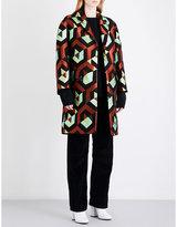 Dries Van Noten Rodel metallic-jacquard coat