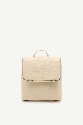 Ardene Snakeskin Flap Backpack