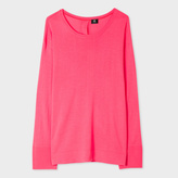 Paul Smith Women's Coral Button-Back Merino Wool Sweater