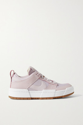 Nike Dunk Low Disrupt Leather And Mesh Sneakers - Lilac