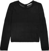 Maje Modene open-knit cotton-blend cardigan