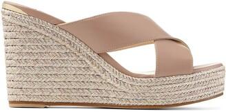 Jimmy Choo Dovina woven wedge sandals