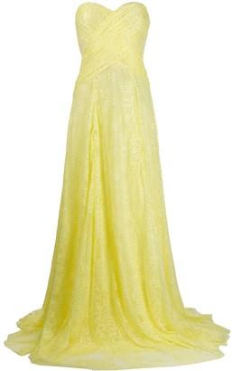 Blumarine Lace Wrap-Detail Gown