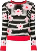 Henrik Vibskov floral print striped sweater