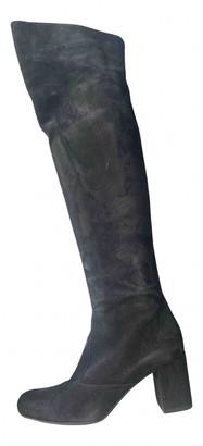 Saint Laurent Black Suede Boots