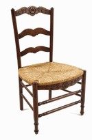 The Well Appointed House French Provence Side Chair in Brown-Set of Two